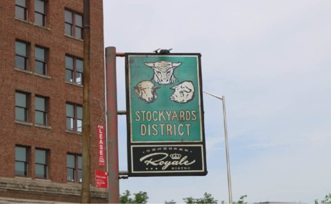 Stockyards District Sign